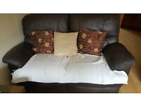 2 seater Brown recliner