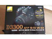 Digital SLR Camera: Nikon D3300 with AF-P DX 18-55 VR Lens