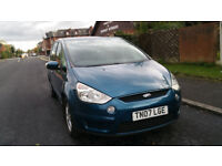 2007 Diesel Ford S Max Tdci zetec 7 seater with one year MOT,one owner full service history