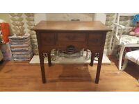 Vintage Retro Console Table Dresser Hall Table 3 Drawer Side Table Sideboard