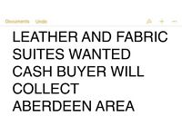 Wanted modern Leather and fabric suites
