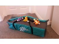 Full Size Travel and Play Cot (includes detachable mobile and free mothercare matress)