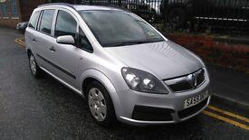 2005 Vauxhall Zafira 1.6 i 16v Life 5dr MPV, FSH, MOT TILL NOVEMBER 2017, £1,595