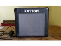 Kustom kga10 10 watt amplifier. Used but in good condition.