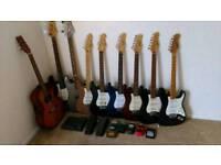 Guitar job lot guitars