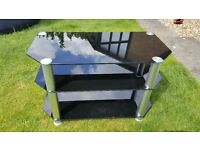 Glass TV & DVD Stand For Sale