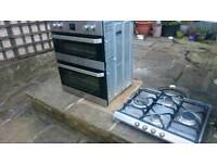 Smeg Double electric Oven and gas hob
