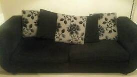 3 seater sofa, foot stool and cuddle chair
