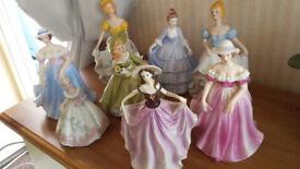 8 Bone china figurines