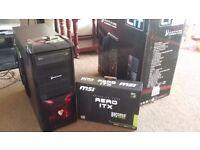 i7 Quad Core 4K Gaming PC, 8GB DDR3 RAM, Geforce GTX 1050 OC 2GB GDDR5, Gaming Case, 400W PSU, Win10