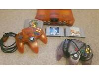 Nintendo N64 console limited edition fire