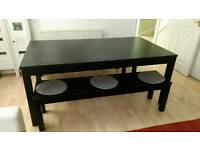 Dining table IKEA Bjursta + 2 bjursta benches