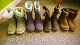 Girls shoes lot wellies