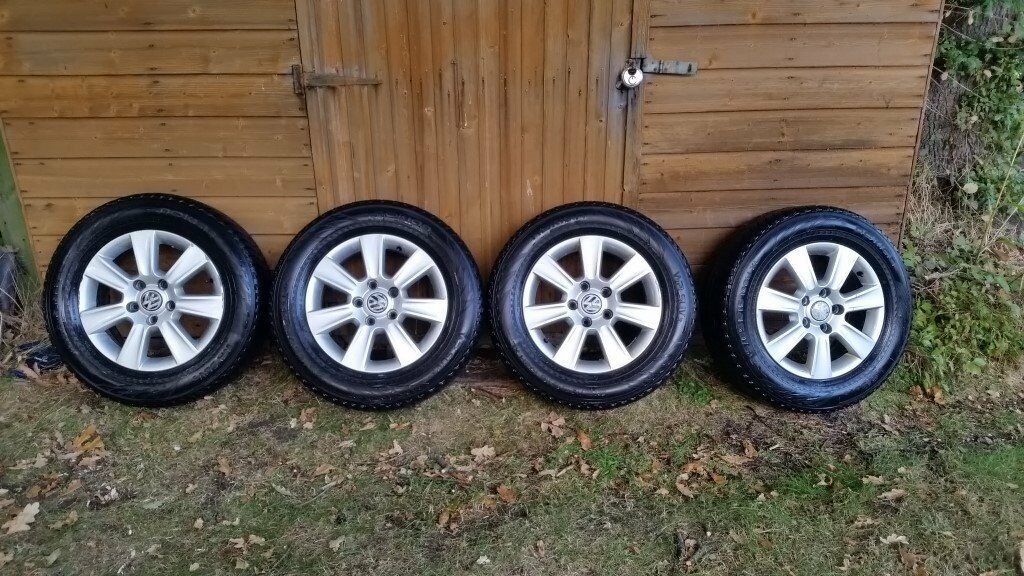 "VW T5 Transporter 16"" alloy wheels and winter tyres."