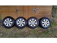 """VW T5 Transporter 16"""" alloy wheels and winter tyres."""