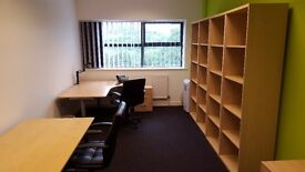 Office space for rent, 2-3 person room, business rates included, ample car parking