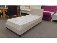 Brand New Christie Fabric Single Bed Frame ( BED ONLY) Can Deliver