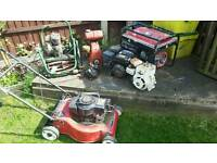 Petrol mower generator Honda engine joblot briggs Stratton