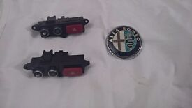 Alpha Romeo Badge and Hazard Switches to fit Berera & 159 models