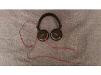 Sony MDR-V55 Foldable Stereo Headphone Black/Red used once