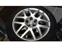 "VW BBS MONTREAL 16"" ALLOYS WITH TYRES RARE 5X112"
