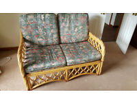 Conservatory settee, chair and side table