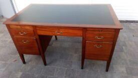 Solid large old wood desk