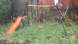 Swing slide frame