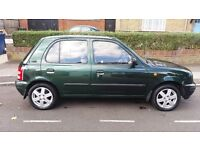 5 door nissan micra 1997 long MOT excellent condition inside and outside £225