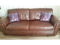 DFS Sofa 3 seater brown leather