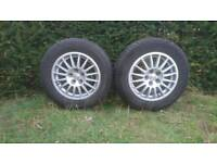"""Oz wheels and tyres almost new Ford stud paten 15"""" 205-65-15. Trike"""