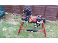 Collectable 1960s flexible flyer spring horse rare