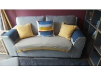 Light grey 2 seater sofa