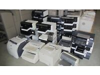 LARGE QUANTITY OF HP PRINTERS