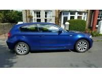 BMW 1 series 116D ES Blue 3 door hatchback Diesel 2 litre