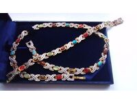 Spectacular jewel set (necklace 45 cm + bracelet 19 cm)