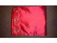 2 pairs of red curtains 66x90