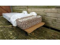 Twin Beds, Wooden Bases with Sprung Mattresses