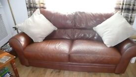 Leather 2 Seater and 3 Seater Sofas