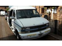 Chevrolet Astro Day Van 1996 Automatic LHD 4.3 litre V6, 7 seater in White with Blue Leather