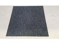 Only 25p each, Industrial carpet tiles 500x500, blue/green
