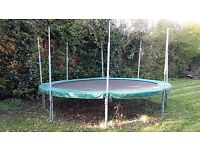Large 'tp' garden trampoline . Approx 14ft X 3ft. Activity Toys Ltd.