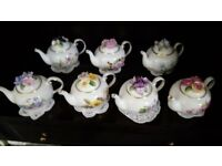 Set of 7 Royale Stratford 'The Country Cottage Teapot Collection'
