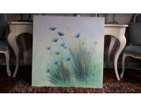 Painting -flowers. Beautiful large canvas.