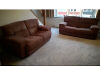 2 x two and a half/three seat fabric sofas