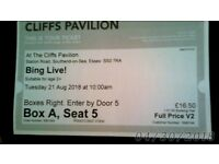 cliffs pavilion BING LIVE! tickets