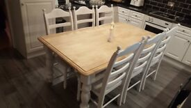 Incredibly Beautiful 6ft x 3ft Shabby Chic Table Set - High Class Refurbishment
