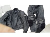 Ashman mens motorbike leather jacket and trousers