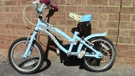 Child's Bike Aged 3-5 Apollo Girls Bike Candy Blue Smart Cheap