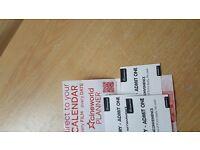 3 x CineWorld cinema tickets with free 3D glasses